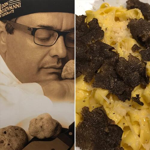 DON GIOVANNI | Chef en el Retiro conocido como «el Rey de la Trufa»